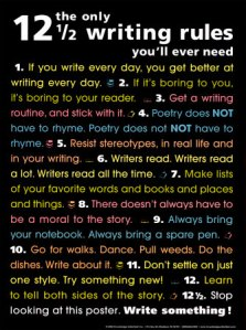 7192~The-Only-12-1-2-Writing-Rules-You-ll-Ever-Need-Posters